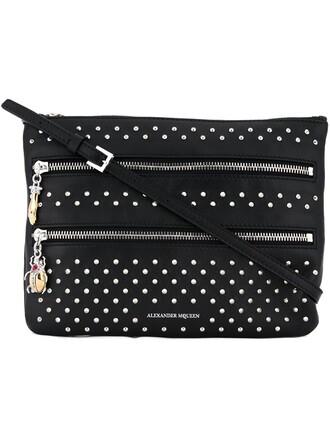 zip clutch black bag