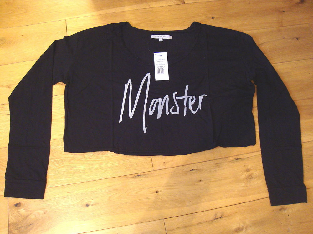 ILLUSTRATED PEOPLE MONSTER LONG SLEEVE CROPPED TOP - M - BNWT (156/13) | eBay