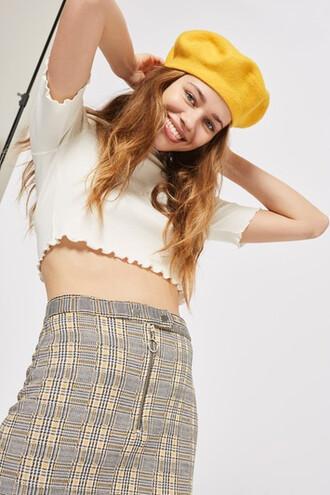skirt mini skirt mini zip mustard