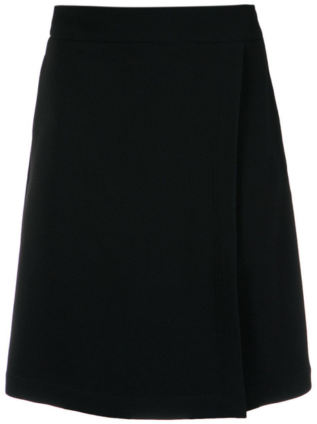 Reinaldo Lourenço - straight skirt - women - Acetate/Viscose - 44, Black, Acetate/Viscose