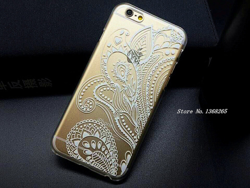 sports shoes 7e5e9 3b7d9 New Arrival Phone Cases Luxury PC Clear Vintage White Paisley Flower Phone  Cases Hard Housing Back Cover for iPhone 6 Case Sale-in Phone Bags & Cases  ...