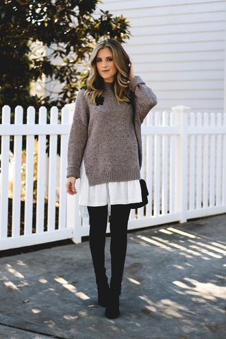 jewels thedaintydarling blogger sweater leggings shoes