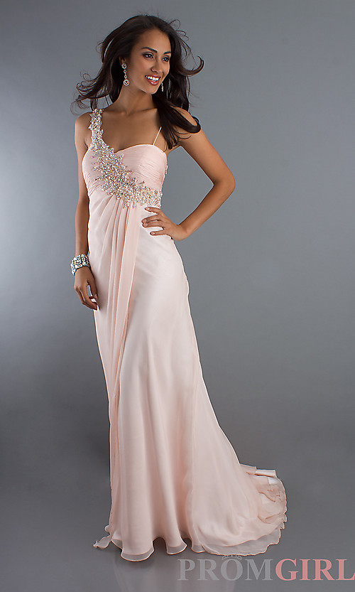 Elegant Beaded Chiffon Gown by Dave and Johnny 7048,Long Prom