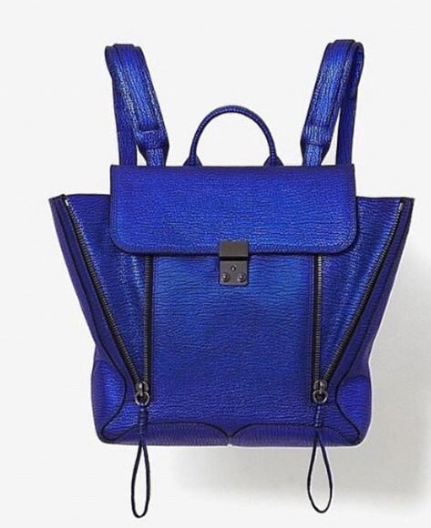 bag backpack blue purse pretty #bags