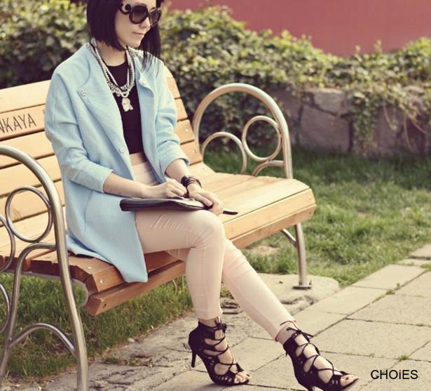 Black Suede Peep Toe Tie Up Sandals | Choies
