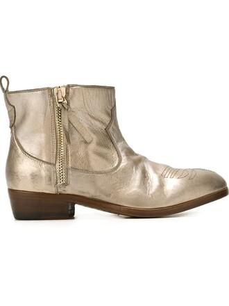 boots metallic shoes