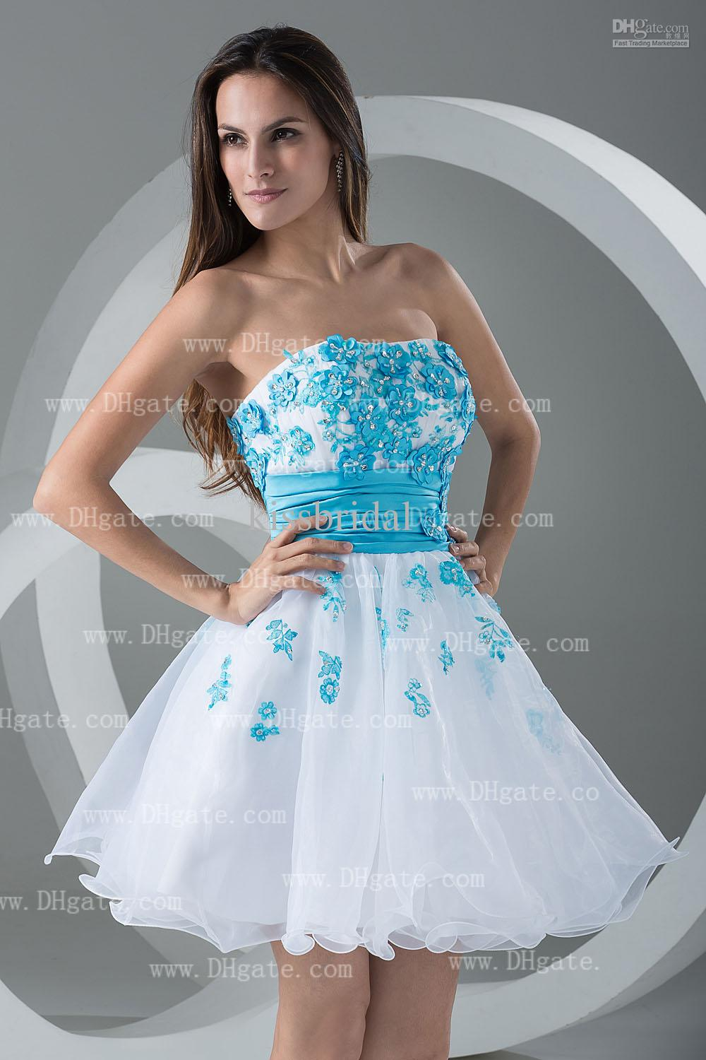 white and blue prom dress | Gommap Blog