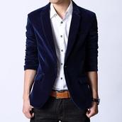 jacket,velvet navy blazer prom,coat,navy,t-shirt,zaful