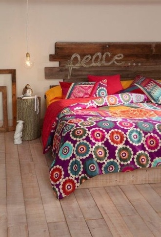 home accessory bedding bedroom hippie peace