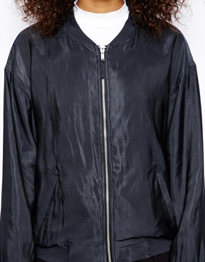 Monki | Monki Zip Bomber Jacket at ASOS