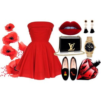 dress red dress red prom dress strapless styleiconscloset