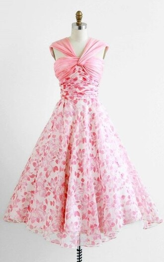 dress pink dress pink flowers floral dress midi dress romantic dress