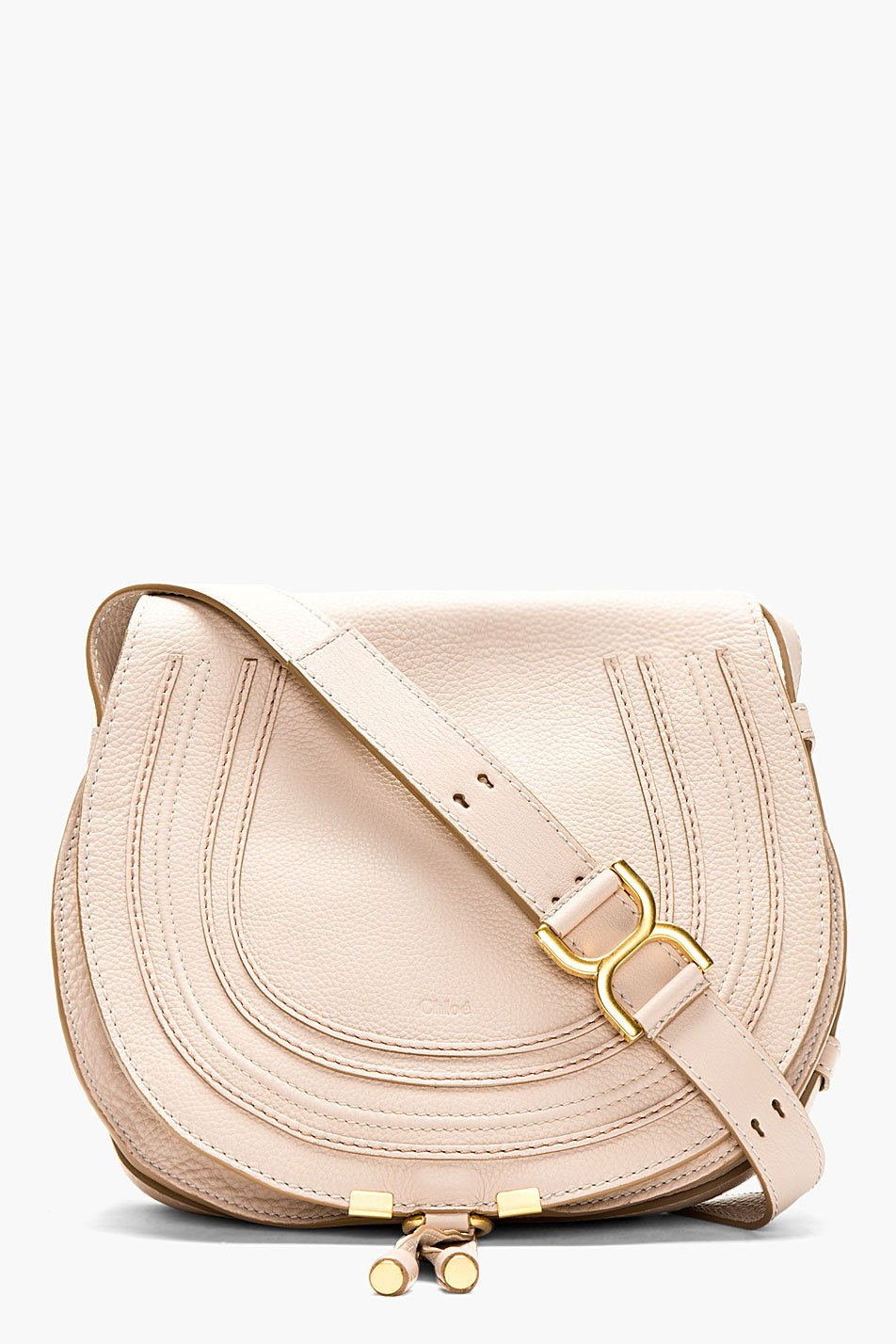 chlo taupe pebble leather marcie satchel