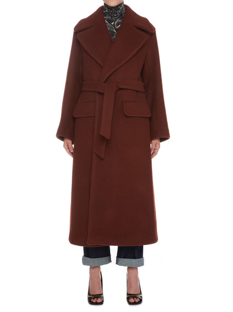 Dries Van Noten Coat in burgundy