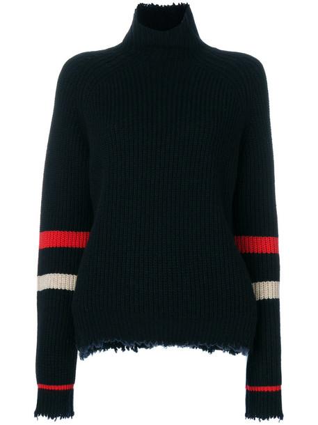 Zadig & Voltaire sweatshirt women black wool sweater