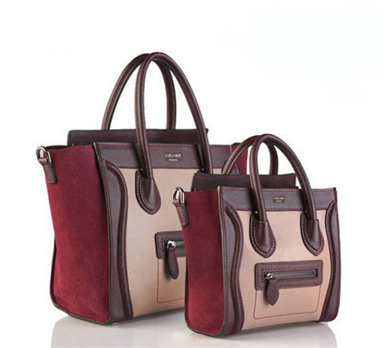 Aliexpress.com : Buy High Quality New Burgundy Smile Women trapeze bag genuine leather Suede Tote Handbags Soulder Bags Sac totalizador Free Shipping from Reliable bag restoration suppliers on momofashion