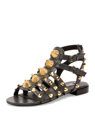 shoes studded shoes studded sandals black sandals flat sandals