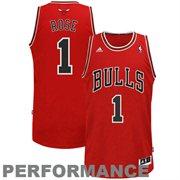 adidas Derrick Rose Chicago Bulls Revolution 30 Swingman Performance Jersey-Red - NBA Store