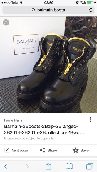 shoes luxury black balmain boots