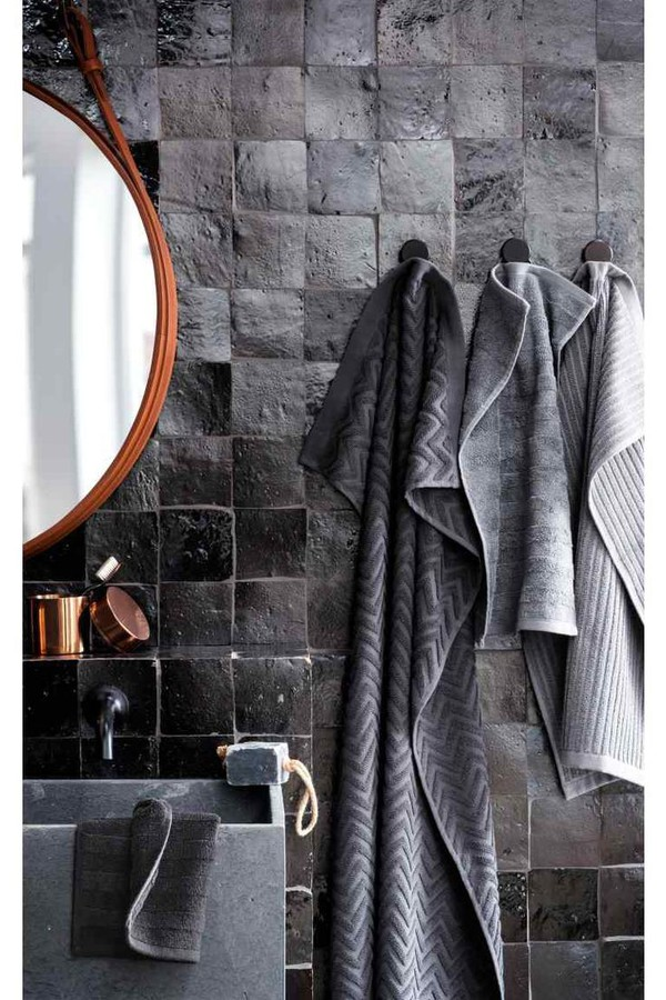 Home Accessory Towel Grey Charcoal Bathroom All Grey Everything Mirror Wheretoget