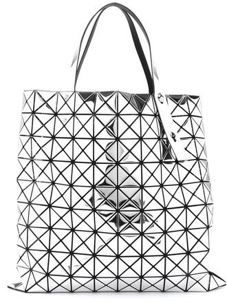 women grey metallic bag