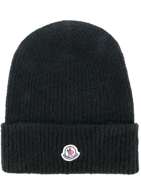 classic hat beanie knitted beanie black