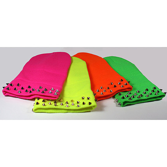 Neon Spiked Beanies from Created by Fortune