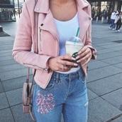 jacket,suede jacket,pink,pink jacket,girl,girly,pink coat,pastel pink,light pink,baby pink