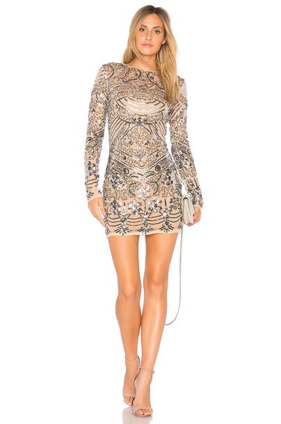 Endless Rose dress mini dress mini metallic silver