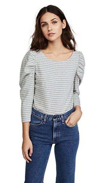 La Vie Rebecca Taylor jersey tee grey heather grey top