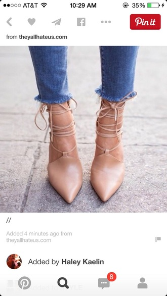 shoes lace up heels nude high heels pointed toe nude pumps nude