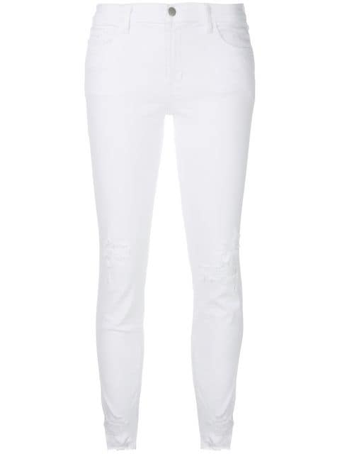 J Brand Distressed Skinny Jeans - Farfetch