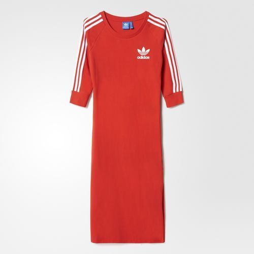 71e149ead26 Adidas Women Originals 3-Stripes Dress Red