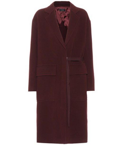 coat wool purple