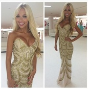 prom dress,prom,gold dress,gold,long prom dress,strapless dress,dreamdress,blonde hair,dress