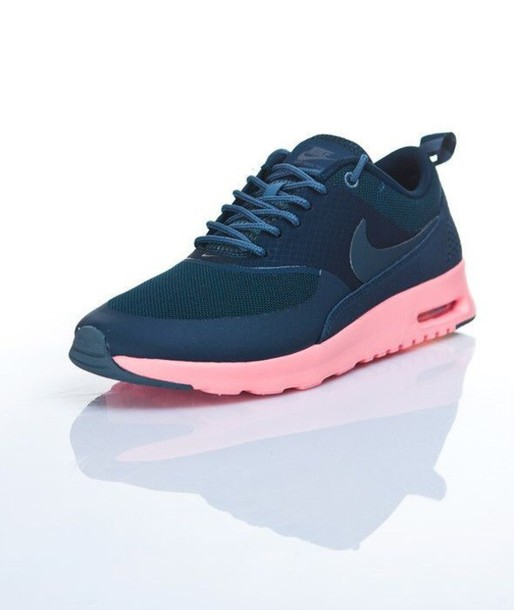 buy online 422ca 0291a shoes nike shoes nike air max thea navy pink nike running shoes pink blue  nike running