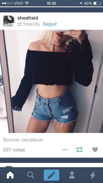 shorts fashion tumblr t-shirt crop tops