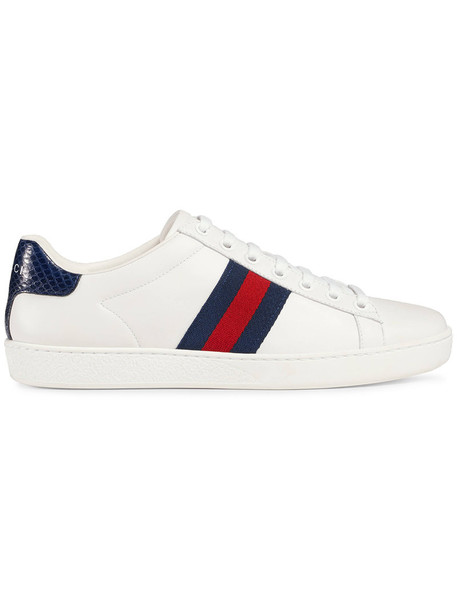 gucci women sneakers leather white shoes