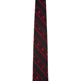 red scarf skull menswear tie ties charcoal bias scarf red