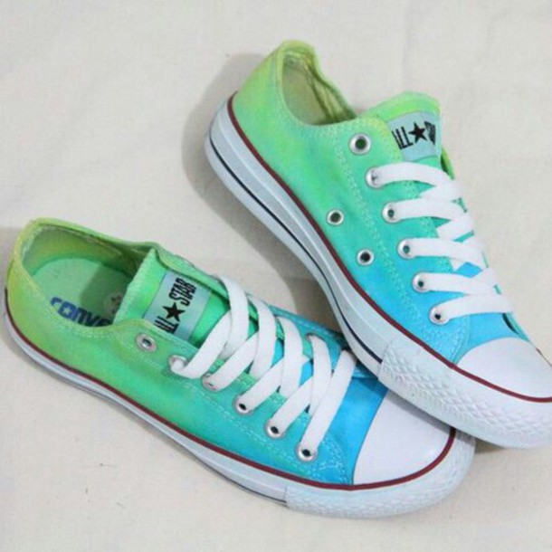 f33cd38d6cc6 shoes ombre blue green ombre shoes converse green. and blue flat tops all  star ombrè