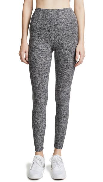 Beyond Yoga High Waisted Midi Leggings in black / white
