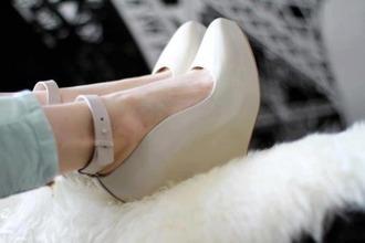 shoes beige beige shoes platform shoes doll