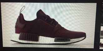 shoes maroon/burgundy trainers adidas shoes nmd adidas