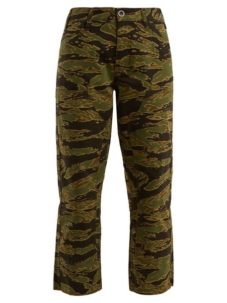 M.i.h Jeans cropped camouflage cotton print pants