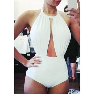 swimwear white fashion one piece swimsuit style hot trendy beach summer rose wholesale-jan