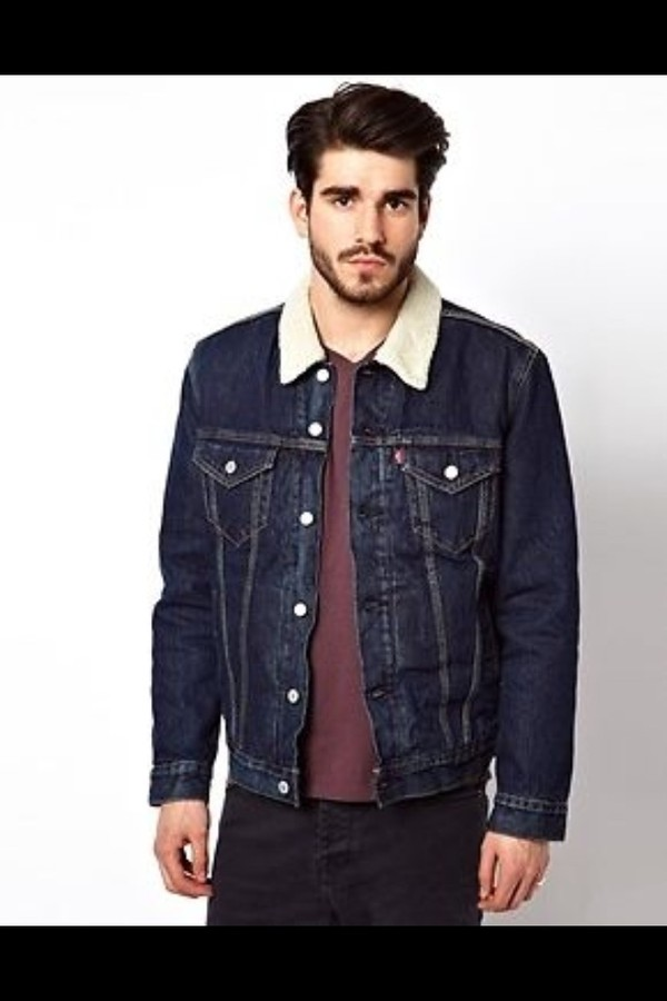 jacket levi's fur denim trucker vintage indie levi's jejeand
