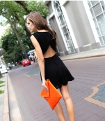 Bare Back Sleeveless Dress  | Online Dress Shopping : Ezytred Malaysia