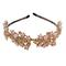 Golden and pink floral rhinestone detail hairband