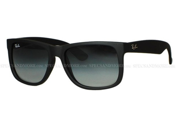 ray ban black justin rb sunglasses matte black  sunglasses black matte matte black hipster indie rayban