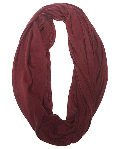 Jersey Solid Infinity Scarf - WetSeal